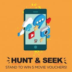 [Cathay Cineplexes] Stand to win 5 movie vouchers when you hunt down the secret notification while exploring Cathay Malls with the BeaconMi