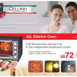 [JAPAN HOME Singapore] Don't forget about the fantastic offer we have on Cellini Italy home appliances, until the end of May.