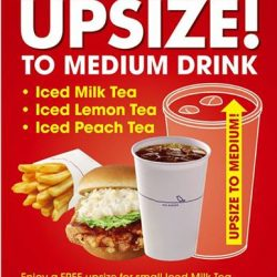 [MOS Burger] Free upsize of Iced Tea.