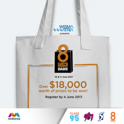 [Wisma Atria] LAST WEEK to sign up for our 8DaysShoppingBagDare!