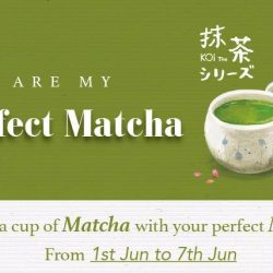 KOI Singapore: Enjoy 1-for-1 on the new Matcha Drinks!