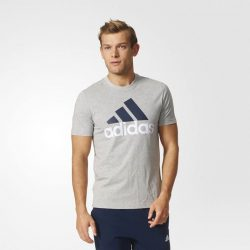 [DOT Singapore] ADIDAS ESSENTIALS TEE - A COMFORTABLE TEE WITH A LARGE LOGO.