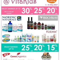 [VitaKids] Enjoy savings on these fantastic brands this May!