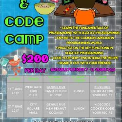 [WESTGATE KIDS CLUB POWERED BY GENIUS R US] Bake and Code with Genius R Us this June school holidays!