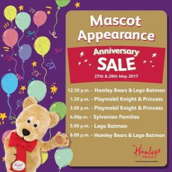 [Hamleys of London] Mascot meet & greet with the Hamleys Bears, Lego Batman, and other characters starts tomorrow at 12:30pm!