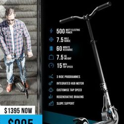 [INLINEX] Emicro one electric scooters are going for AT A PRICE OF $995 instead of $1395.