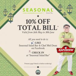 [SEASONAL SALAD BAR] IN CASE YOU MISS our PROMOTION!
