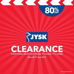 [JYSK] Who needs the Great Singapore Sale when the JYSK Renovation Clearance Sale is happening now?