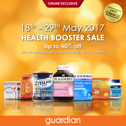 [Guardian] Tomorrow is the last day of Guardian's online exclusive Health Booster Sale!