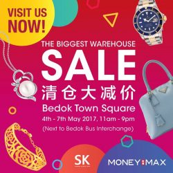 [MONEYMAX] Come visit us at the BIGGEST warehouse sale from 4th-7trh May at Bedok Town Square!