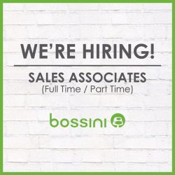 [Bossini Singapore] Bossini Singapore is hiring!