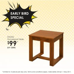 [Scanteak] Sturdy side tables make good accompaniments to your living areas.