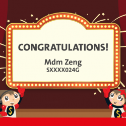 [OCBC ATM] Congratulations to Mdm Zeng, the winner of a kids' bedroom makeover!