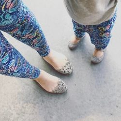 [Melissa] Can't stop staring at our matchy-matchy candy shoes!