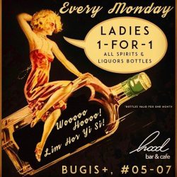 [Hood Bar and Cafe] Starting today Monday's the new ladies night!