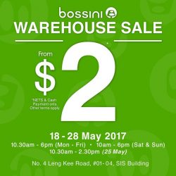 [Bossini Singapore] If you have not visited Bossini Singapore Warehouse Sale over the weekend, drop by SIS building (nearest MRT: Redhill) to