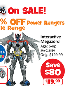 [Babies'R'Us] All Power Rangers on sale!