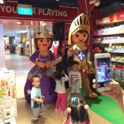 [Hamleys of London] Playmobil's beautiful Princess and dashing Knight in shining armor graced Hamleys at our Anniversary Sale!