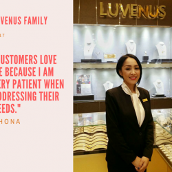[Luvenus] When Chona started with Luvenus Lucky Plaza, it was her first experience working for a jewellery company.