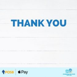[POSB Autolobby] Thank you for supporting our 90¢ promo, Singapore!
