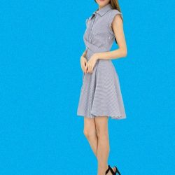 [MOONRIVER] Dress In Style -  Diana Fit and Flare Stripe DressPlease see other new arrivals at www.