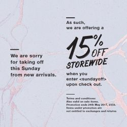[Ninth Collective] No new stuff this weekend but cheers to 15% storewide on everything including sale items!