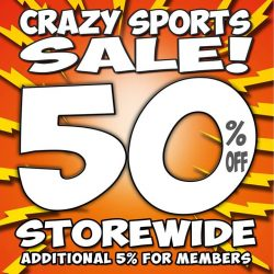 [The Seletar Mall] CRAAAAAAAAAAAZY SALES is back at World of Sports!