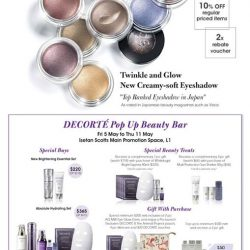 [Isetan] Drop by DECORTÉ's pop-up beauty bar at Isetan Scotts, Main Promotion Space L1 to experience the new highly-