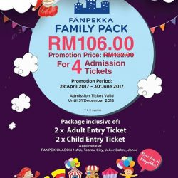 [CAUSEWAY LINK BY HANDAL INDAH] GRAB OUR LATEST PROMOTION FOR FANPEKKA FAMILY PACKAGEWith only RM106.