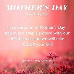[SPUR] Event alert: To show our appreciation for all mothers, we will be holding a mini event at our SPUR outlet @