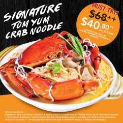 [Central Thai] Our Signature Tom Yum Crab Bee Hoon is now on a limited time offer of $40.
