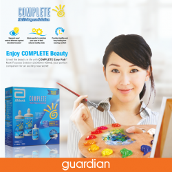 [Guardian] COMPLETE Multi-Purpose Solution EASY RUB Formula cleanses your contact lenses so thoroughly that you feel as though you are