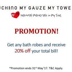 [Uchino] Don't forget about our promotion ending on 31st May!