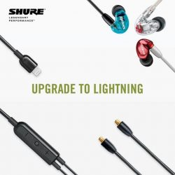 """[Stereo] Certified to be """"Made for iPod/iPhone/iPad"""" by Apple, Shure RMCE‐LTG Remote + Mic Lightning Cable seamlessly connects Shure"""