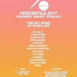 [The Authority] Join us at our annual sales event at Percentile this coming weekend - Up to 70% off.