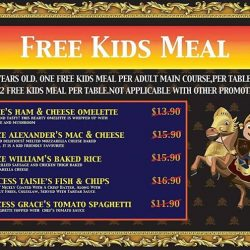 [The King Louis Bar & Grill] Come and enjoy our promotion for kids 6 years old and below.