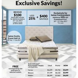 [Isetan] For a Luxurious Quality Sleep With Exclusive Savings by Sealy!