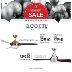 [SENSE AND BEDECK] ACORN anniversary SALES is coming to an end this coming June, please note that this promotion will be ending at