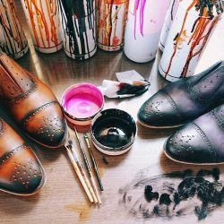 [The Bespoke Club] TBC offers made to order hand crafted and coloured Italian leather shoes by @dominiquesaintpaul.