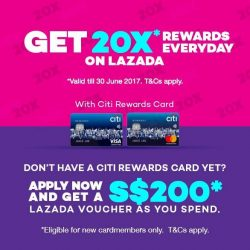 [Lazada Singapore] Earn 20X* Rewards with your Citi Rewards Card at Lazada now!