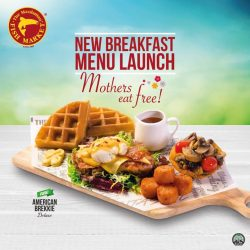[The Manhattan FISH MARKET Singapore] We're launching our new breakfast menu on 13-14th May and to celebrate this, mothers get to eat FREE