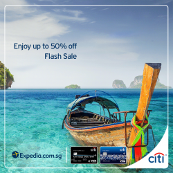 [Citibank ATM] Book your next holiday on Expedia and enjoy up to 15% off your booking.