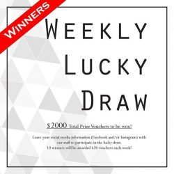 [Design & Comfort] This week's lucky winners of our lucky draw are from Instagram: @seahwanqi , @xiaoqianie , @dreamlingz , @jqmt , @chloe0957 From Facebook: Siew
