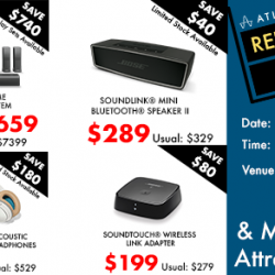 [BOSE] LAST DAY of our relocation sale!