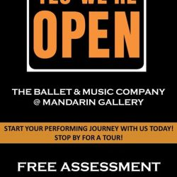 [The Ballet & Music Company] Come in, we are open!