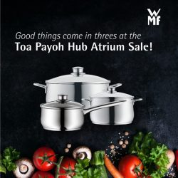[WMF] Seize the best deals on both rugged efficiency and effortless sophistication at our Toa Payoh Hub Atrium Sale from 29