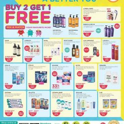 [Watsons Singapore] Enjoy 2ND BUY AT 50% OFF, MIX & MATCH Your FAVOURITE PICKS across participating brands like Dove, Blackmores and more!