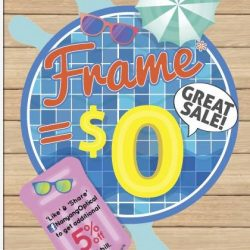 [Nanyang Optical] GREAT SALE Frame* = $0 Like & Follow Nanyang Optical's face book page to get additional 5% off total bill.