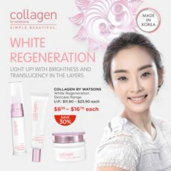 [Watsons Singapore] The Great Singapore Sale is here, and that's why you can now get your Collagen by Watsons' White Regeneration