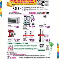 [MAYER] Mayer Showroom/Atrium Sales @ Causeway Point 19th May to 28th May 2017Promotion Highlight: KitchenAid KSM150 @ $749 + Free Gift worth $